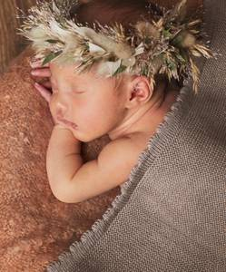Bilde av Newborn teppe i ull cappuccino