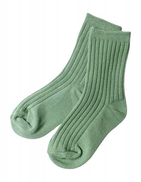 Ribb sokker grønn